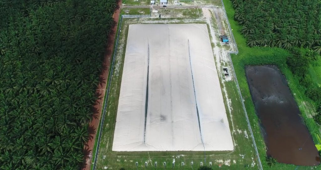 covered lagoon at sinarmas for biogas